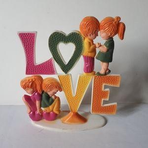 Vintage 1973 Wilton Cake Topper - Love